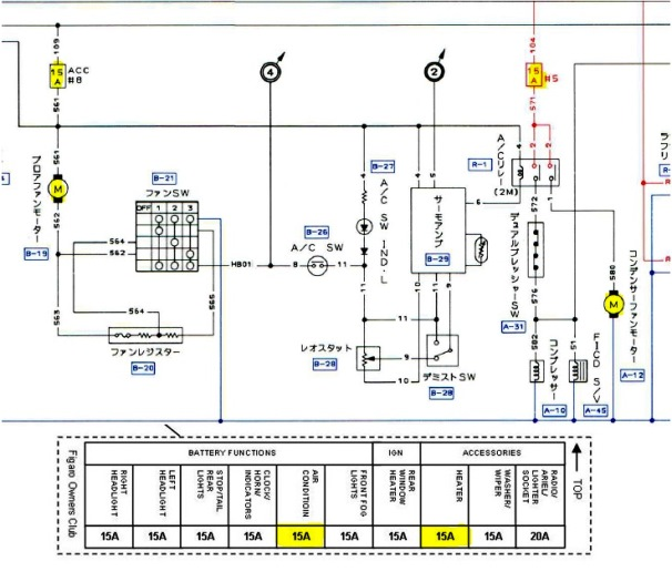 Aircon and Heater Circuit Diagram Extract nissan figaro wiring diagram nissan wiring diagrams instruction sterling touch immobiliser wiring diagram at readyjetset.co