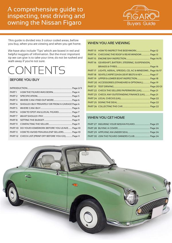 6 – Nissan Figaro Buyers Guide PDF - £6 – Nissan Figaro Buyers Guide